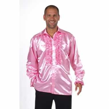 Carnavalskleding lichtroze feest blouse heren online