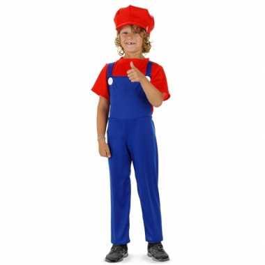Carnavalskleding loodgieter mario pak rood jongens online