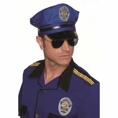 Carnavalskleding luxe blauwe politiepet online