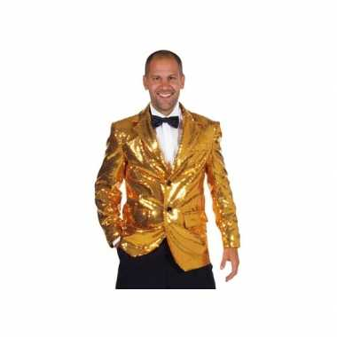 Carnavalskleding luxe gouden colbert heren online