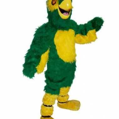 Carnavalskleding luxe mascottes groene papegaai online