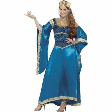 Carnavalskleding luxe prinsessen jurk blauw online
