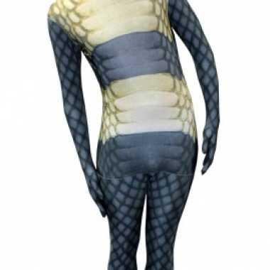 Carnavalskleding morphsuit slangen print online