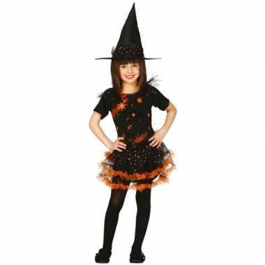 Carnavalskleding oranje baby heksenjurk sterren online