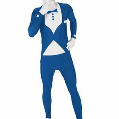 Carnavalskleding originele morphsuit blauwe smoking online