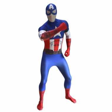 Carnavalskleding originele morphsuit captain america print online
