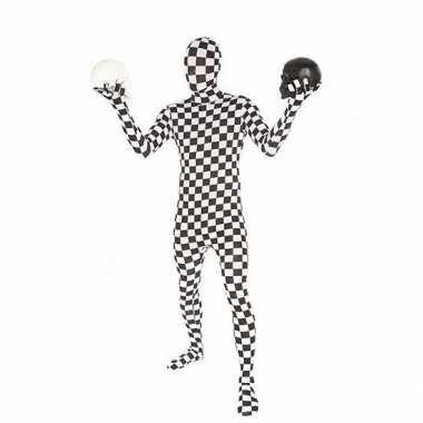 Carnavalskleding originele morphsuit geblokt online
