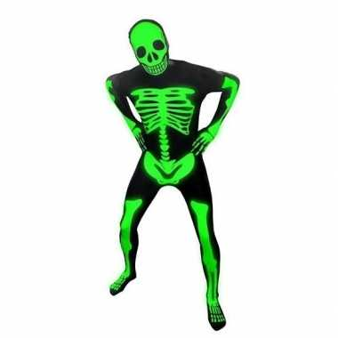 Carnavalskleding originele morphsuit skelet online