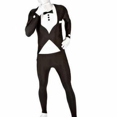Carnavalskleding originele morphsuit smoking print zwart online