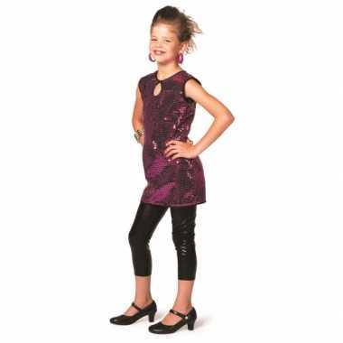 Carnavalskleding paars disco jurkje meiden online