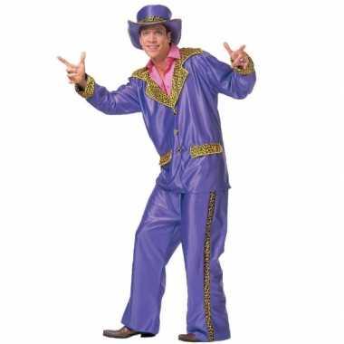 Carnavalskleding paarse disco suit heren online