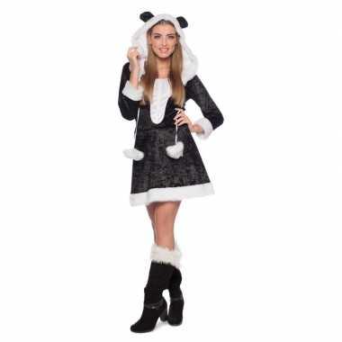 Carnavalskleding panda dieren jurk dames online