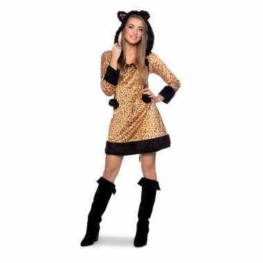 Carnavalskleding panter dieren jurk dames online