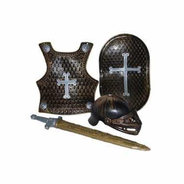 Carnavalskleding ridder setje brons online