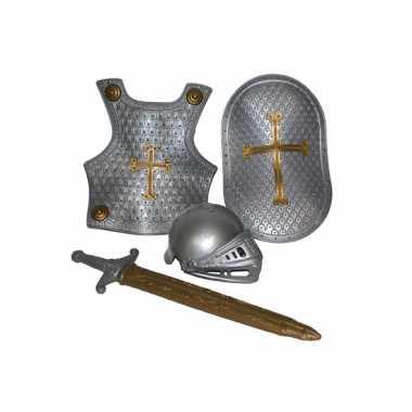 Carnavalskleding ridder setje zilver online