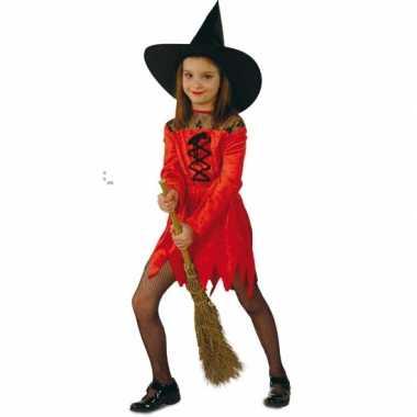 Carnavalskleding rode heksenjurken meisjes online