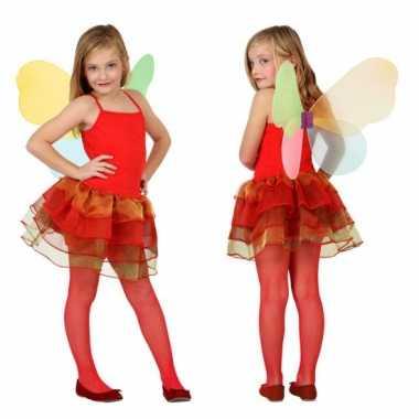 Carnavalskleding rode vlinder jurk meisjes online