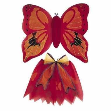 Carnavalskleding rode vlinder vleugels meisjes online
