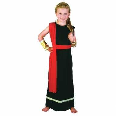 Carnavalskleding romeins gewaad zwart rood meisjes online