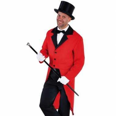 Carnavalskleding rood circus directeur jasje inclusief hoed maat l on