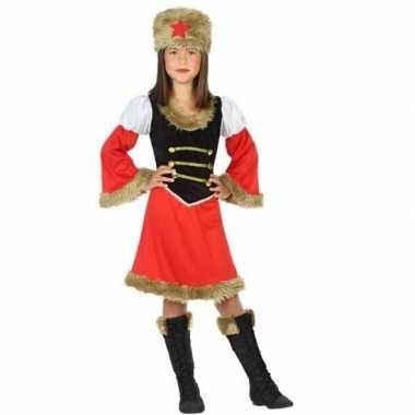 Carnavalskleding rood/zwart kozakken jurkje meisjes online