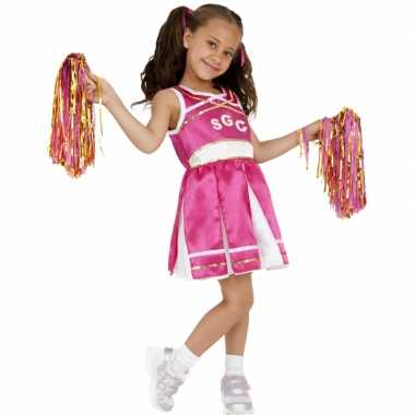 Carnavalskleding roze cheerleader meisjes online