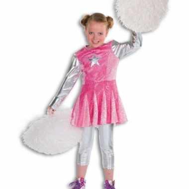 Carnavalskleding roze cheerleaders jurkje meisjes online