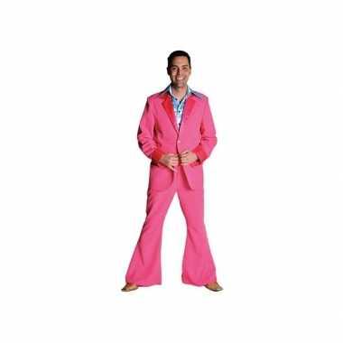 Carnavalskleding roze colbert broek heren online