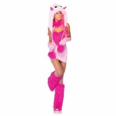 Carnavalskleding roze fantasy monster jurkje online