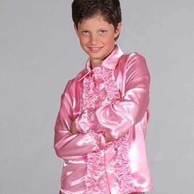 Carnavalskleding roze hippie blouse baby online