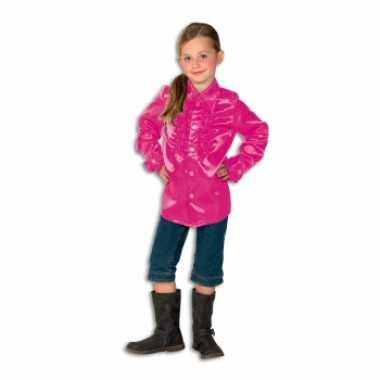 Carnavalskleding roze hippie blouse meisjes online