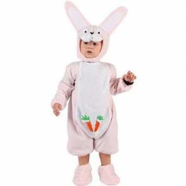Carnavalskleding roze konijntjespak babys online