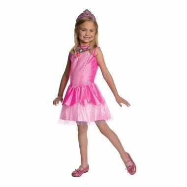 Carnavalskleding roze prinsessen jurkje tiara online