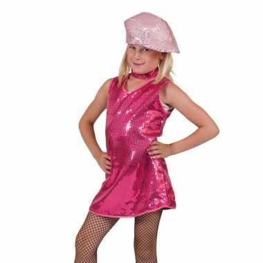 Carnavalskleding roze showjurkje pailletten baby online