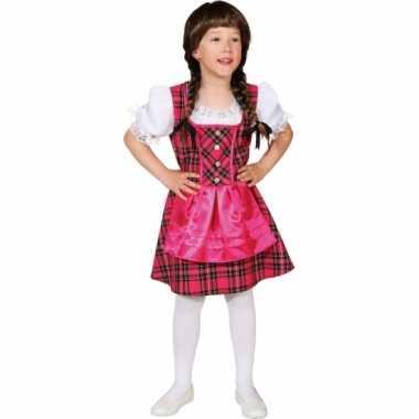 Carnavalskleding roze tirol jurk meisjes online