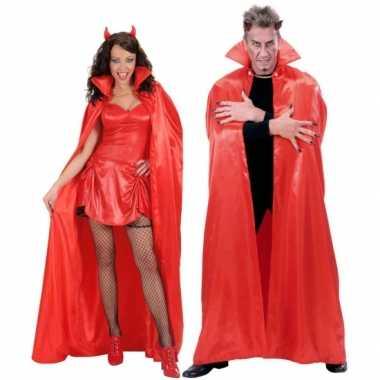 Carnavalskleding satijnen cape rood online