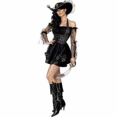 Carnavalskleding sexy zwarte piraten jurk online