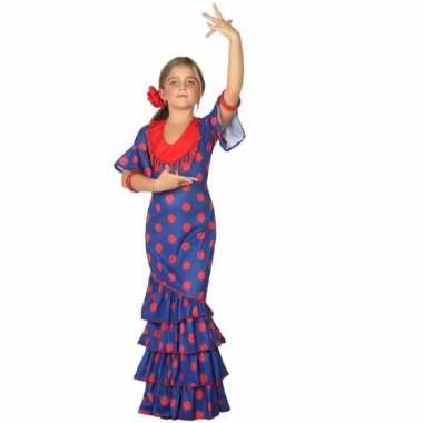 Carnavalskleding spaanse verkleedjurk blauw rood online