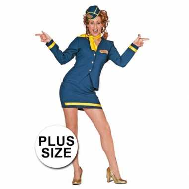 Carnavalskleding stewardess uniform grote maat online