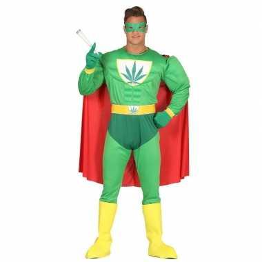 Carnavalskleding verkleedpak wiet superheld volwassenen online