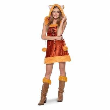 Carnavalskleding vos dieren jurk dames online