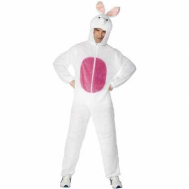 Carnavalskleding wit konijnenpak volwassenen online
