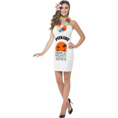 Carnavalskleding witte dames jurkjes peekabu online