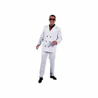Carnavalskleding witte gangsterpak heren online