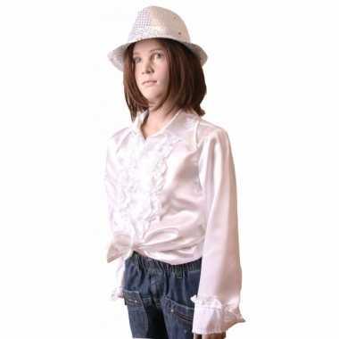 Carnavalskleding witte hippie blouse meisjes online