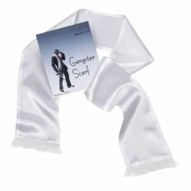 Carnavalskleding witte maffia sjaal kwastjes online