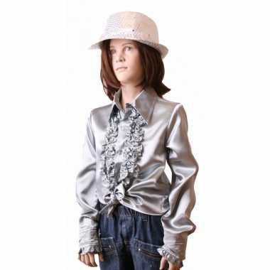 Carnavalskleding zilveren hippie blouse meisjes online