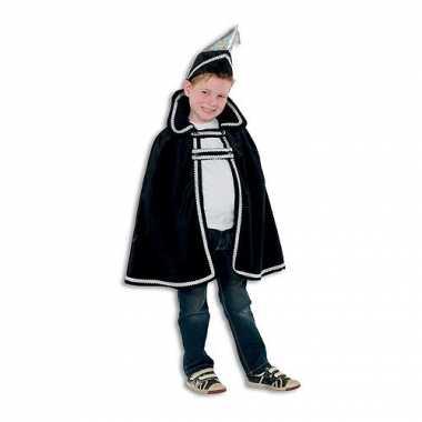 Carnavalskleding zwart prins baby cape hoed online