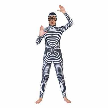 Zwart/wit catsuit/carnavalskleding volwassenen online