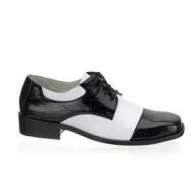 Carnavalskleding zwart witte gangster schoenen online